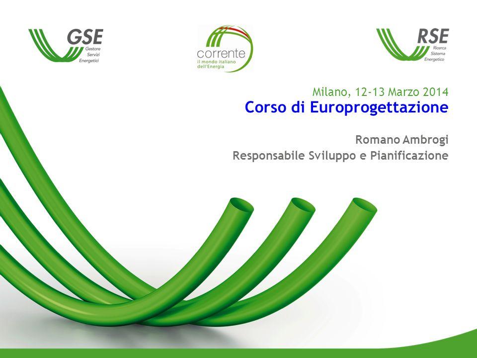 Milano, 12-13 Marzo 2014 Corso di Europrogettazione Romano Ambrogi Responsabile Sviluppo e Pianificazione