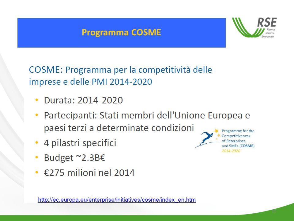 15 Programma COSME