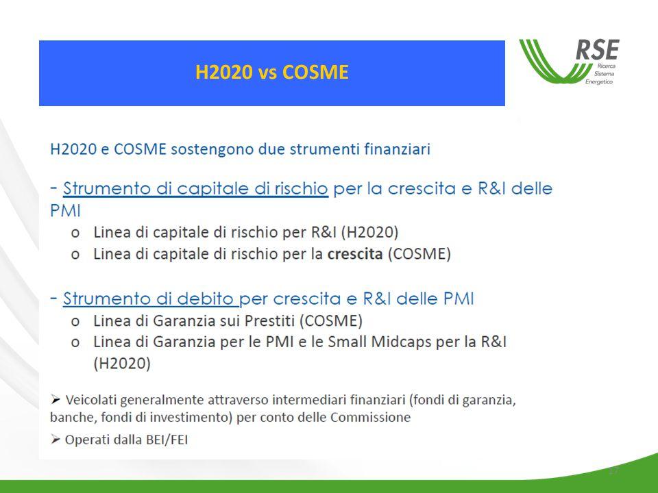 17 H2020 vs COSME