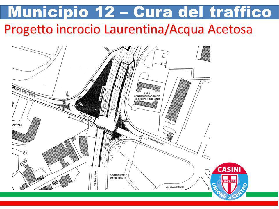 Municipio 12 – Cura del traffico Progetto incrocio Laurentina/Acqua Acetosa