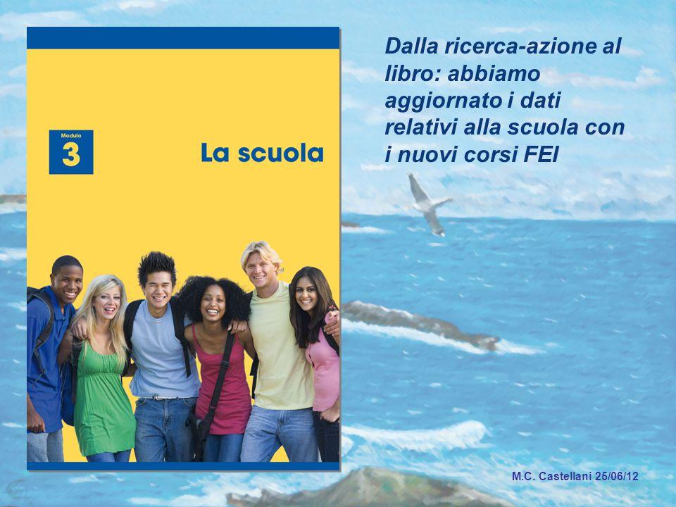 Dalla ricerca-azione al libro: abbiamo aggiornato i dati relativi alla scuola con i nuovi corsi FEI M.C.