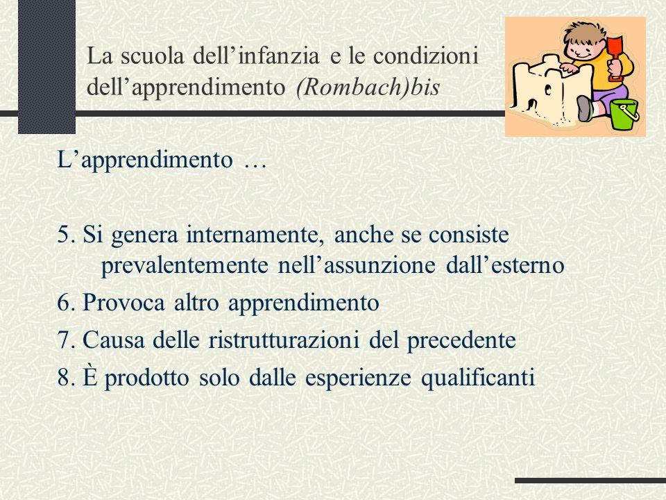 La scuola dell'infanzia e le condizioni dell'apprendimento (Rombach)bis L'apprendimento … 5.