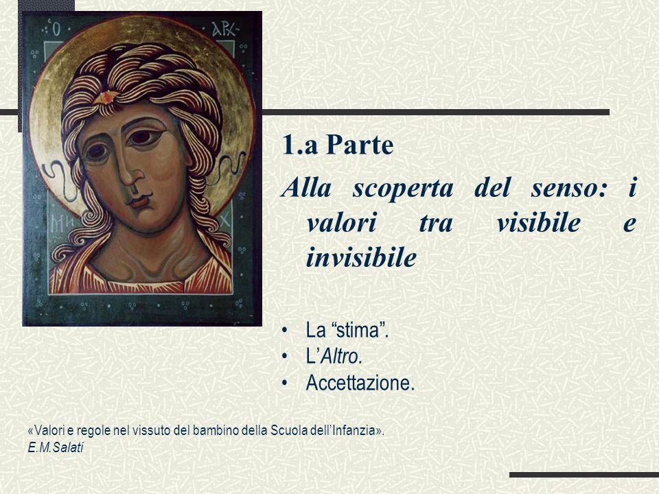 1.a Parte Alla scoperta del senso: i valori tra visibile e invisibile La stima .