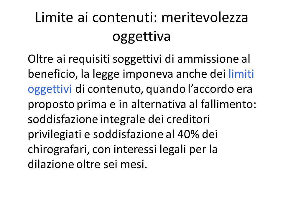 il debitore della legge n.3 del 2012 nel caso degli accordi della legge n.