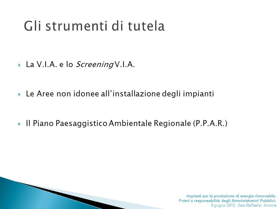  La V.I.A. e lo Screening V.I.A.