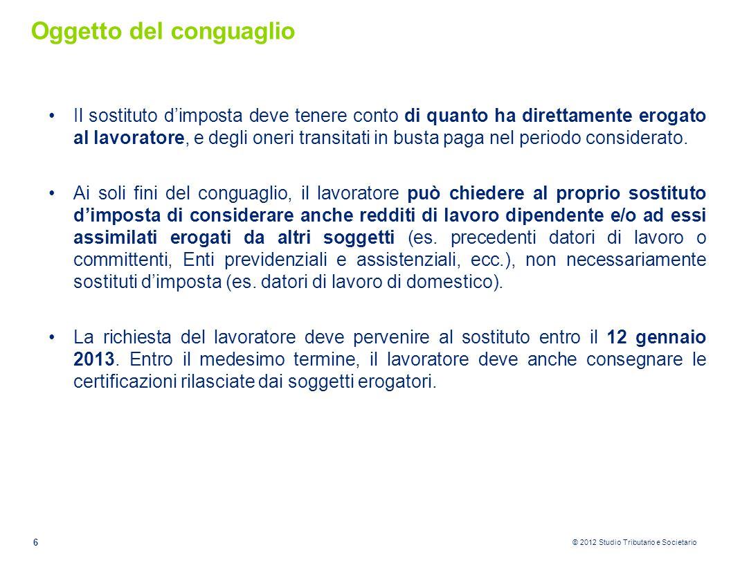 © 2012 Studio Tributario e Societario Assegno al coniuge separato 2.attribuire al coniuge separato che lo richieda, la detrazione prevista dall'art.