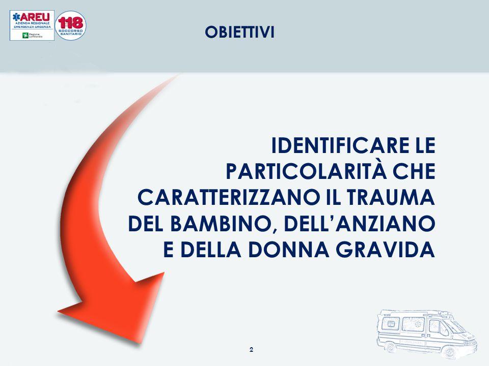 IDENTIFICARE LE PARTICOLARITÀ CHE CARATTERIZZANO IL TRAUMA DEL BAMBINO, DELL'ANZIANO E DELLA DONNA GRAVIDA 2
