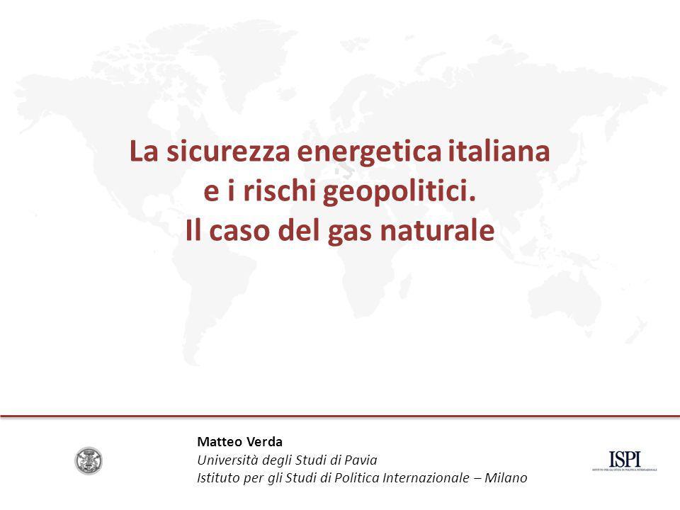 La sicurezza energetica italiana e i rischi geopolitici.