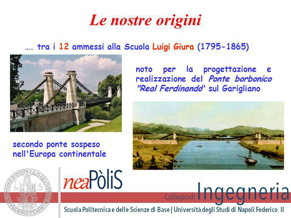 Luigi Giura …. tra i 12 ammessi alla Scuola Luigi Giura (1795-1865) Ponte borbonico