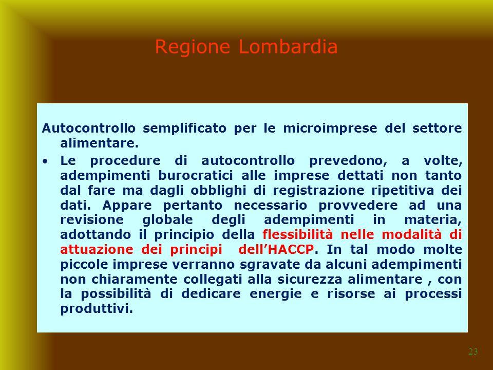 23 Autocontrollo semplificato per le microimprese del settore alimentare. Le procedure di autocontrollo prevedono, a volte, adempimenti burocratici al