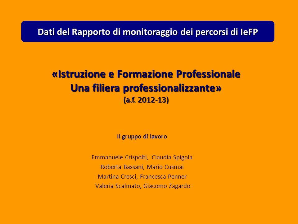 Valeria Scalmato «Istruzione e Formazione Professionale Una filiera professionalizzante» (a.f.