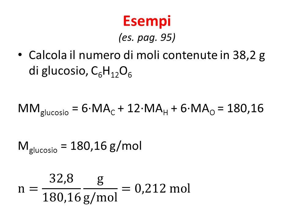 Esempi (es. pag. 95)
