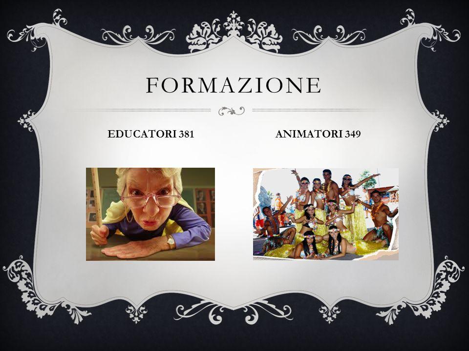 FORMAZIONE EDUCATORI 381 ANIMATORI 349