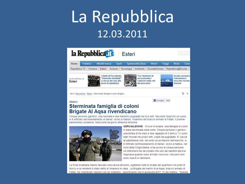 La Repubblica 12.03.2011