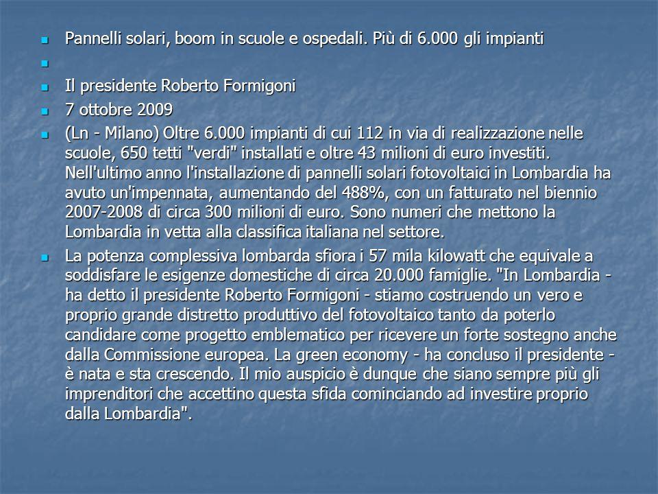 OSPEDALI E SCUOLE - Un attenzione particolare - ha spiegato l assessore regionale alle reti e Servizi di pubblica utilità, Massimo Buscemi - è stata data agli ospedali e alle scuole.