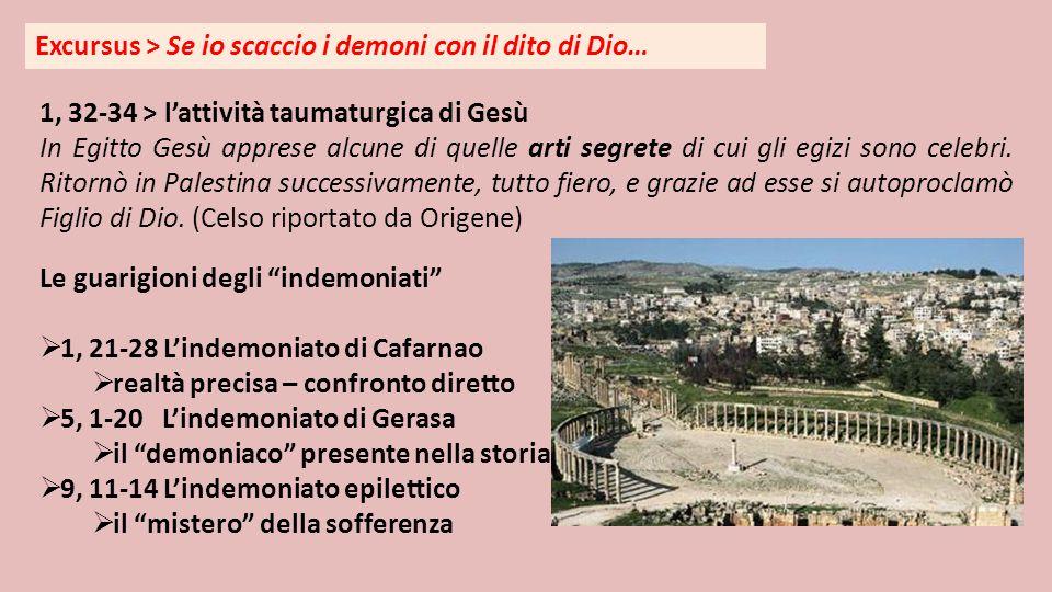 Excursus > Se io scaccio i demoni con il dito di Dio… 1, 32-34 > l'attività taumaturgica di Gesù In Egitto Gesù apprese alcune di quelle arti segrete