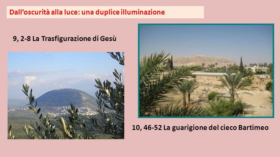 Dall'oscurità alla luce: una duplice illuminazione 9, 2-8 La Trasfigurazione di Gesù 10, 46-52 La guarigione del cieco Bartimeo