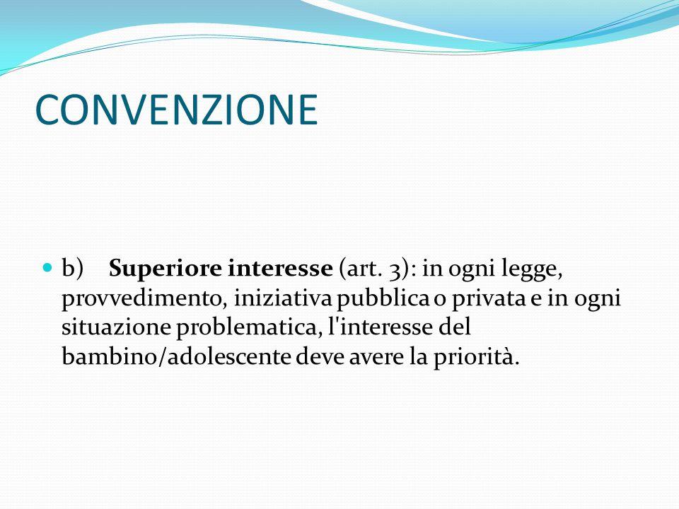 CONVENZIONE b)Superiore interesse (art.