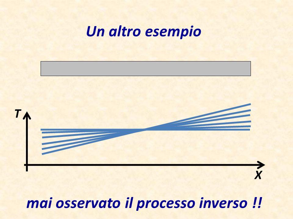 Un altro esempio T X mai osservato il processo inverso !!