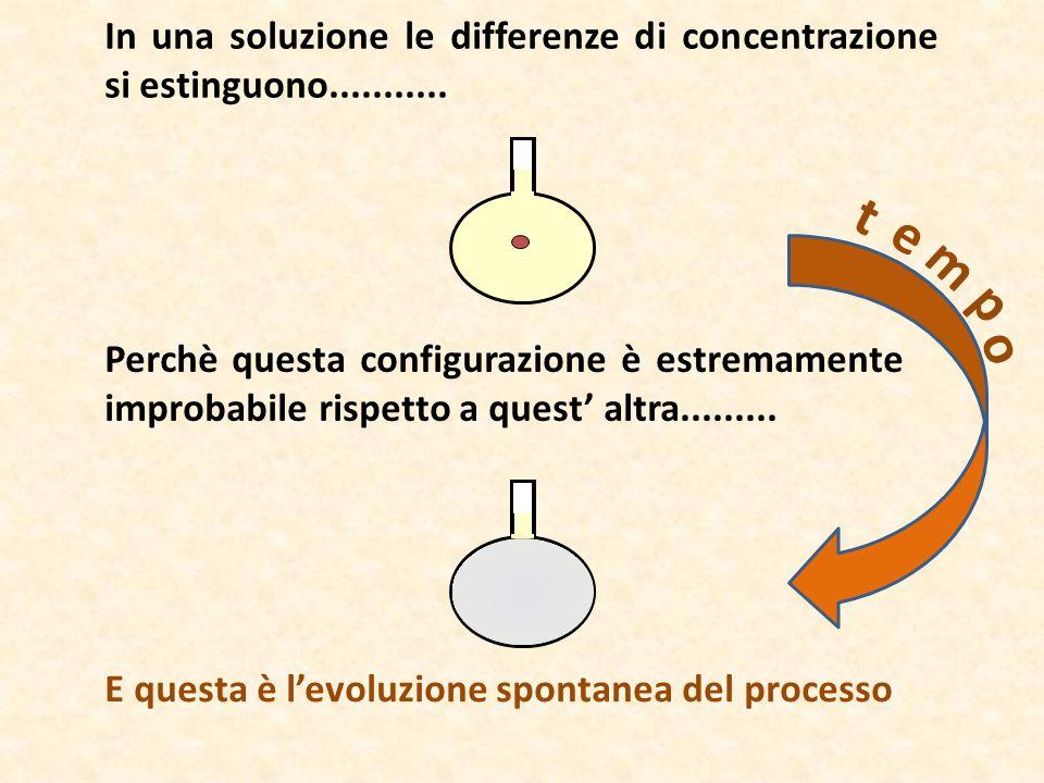 In una soluzione le differenze di concentrazione si estinguono........... Perchè questa configurazione è estremamente improbabile rispetto a quest' al