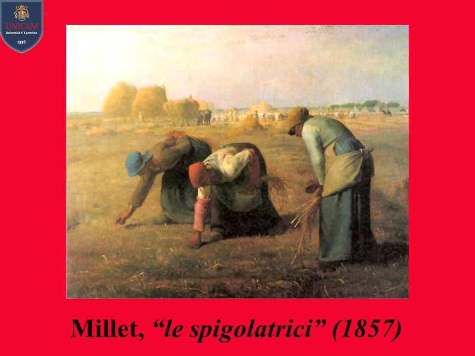 """Millet, """"le spigolatrici"""" (1857)"""