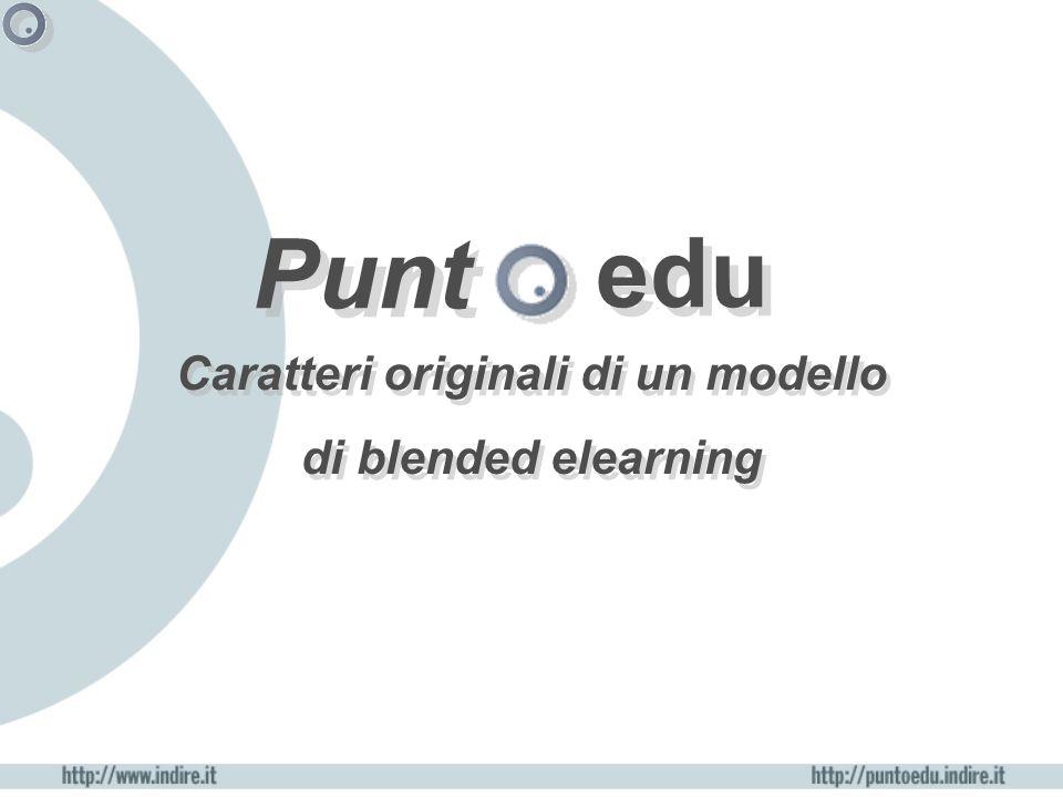 Punt Caratteri originali di un modello di blended elearning edu
