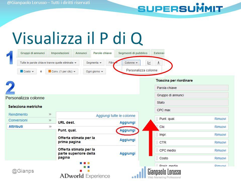 @Gianps @Gianpaolo Lorusso – Tutti i diritti riservati Visualizza il P di Q
