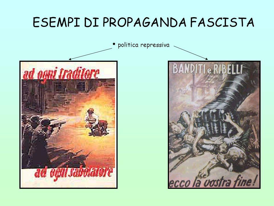 ESEMPI DI PROPAGANDA FASCISTA politica repressiva