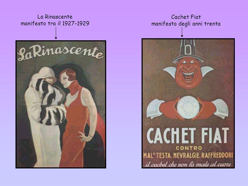 La Rinascente manifesto tra il 1927-1929 Cachet Fiat manifesto degli anni trenta