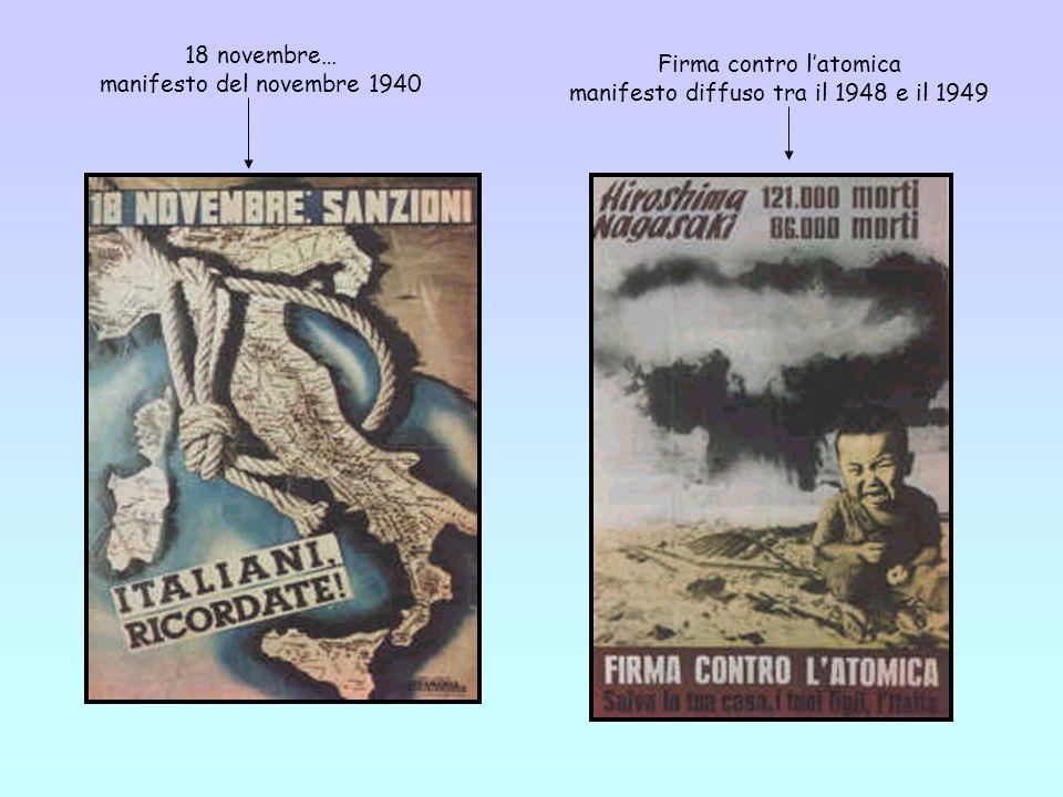 18 novembre… manifesto del novembre 1940 Firma contro l'atomica manifesto diffuso tra il 1948 e il 1949