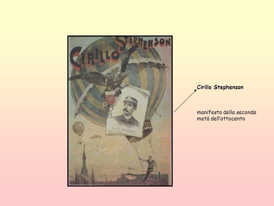 Cirillo Stephenson manifesto della seconda metà dell'ottocento