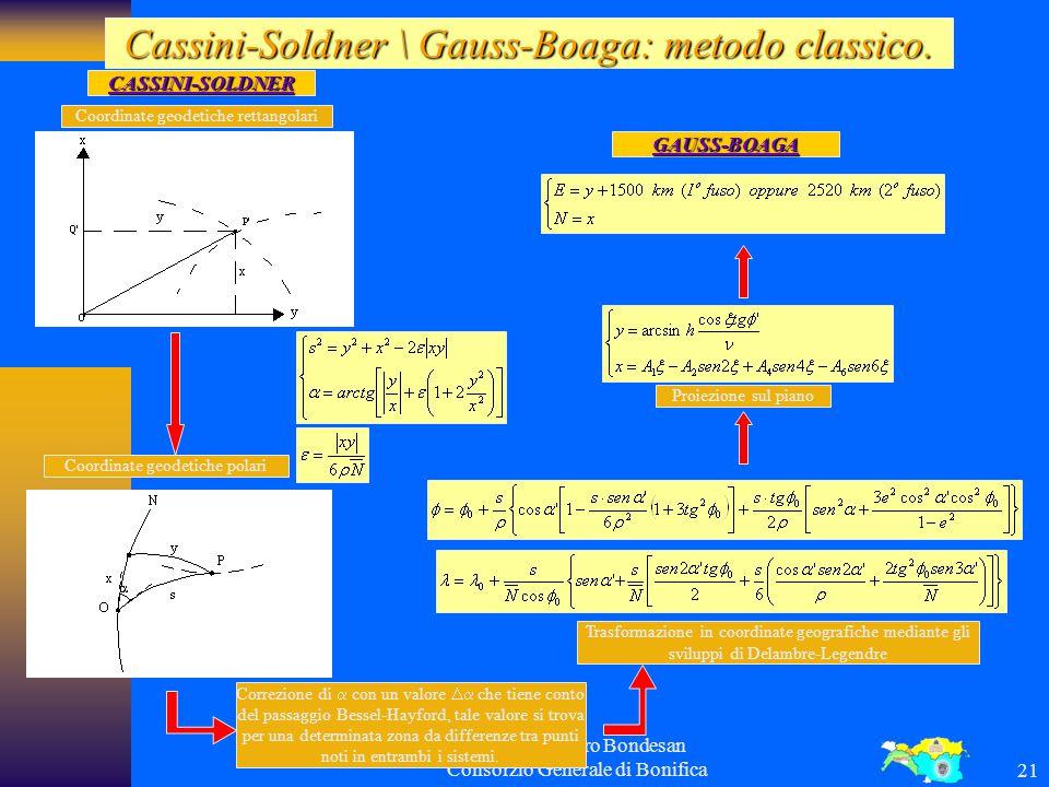 Ing. Alessandro Bondesan Consorzio Generale di Bonifica20 Il sistema UTM e la suddivisione in fogli