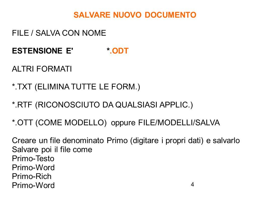 15 SILLABAZIONE AUTOMATICA ALLINEAMENTO GIUSTIFICATO …..
