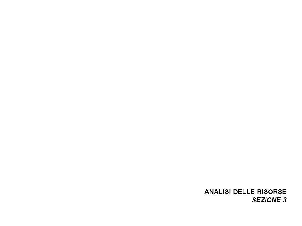 ANALISI DELLE RISORSE SEZIONE 3