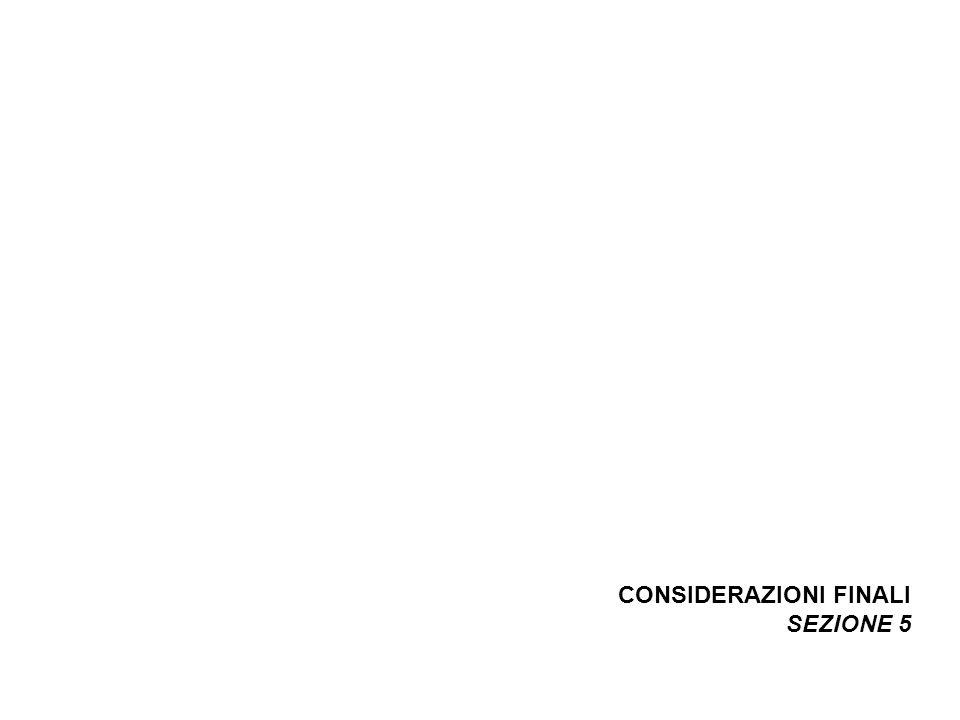 CONSIDERAZIONI FINALI SEZIONE 5