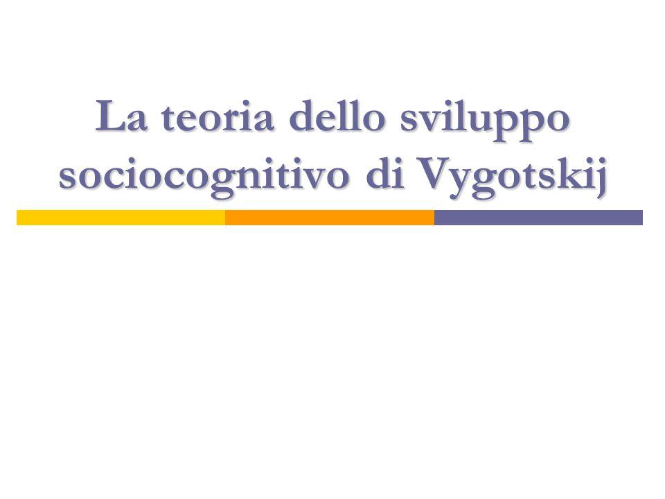 Lëv Semenovich Vygotskij (1896-1934)  Nato in Russia lo stesso anno di Piaget.