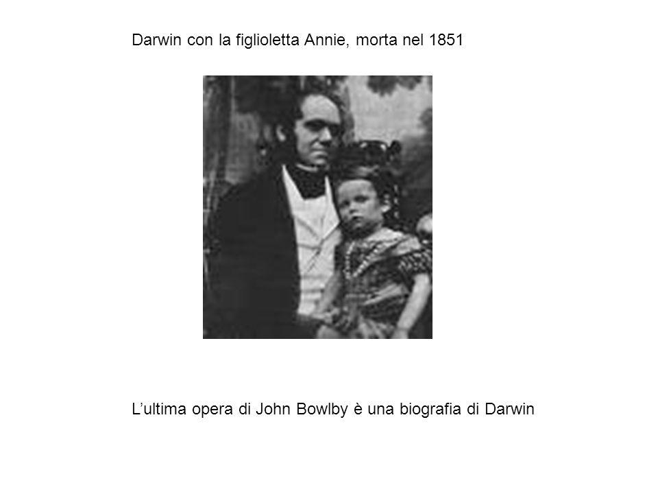 Darwin con la figlioletta Annie, morta nel 1851 L'ultima opera di John Bowlby è una biografia di Darwin