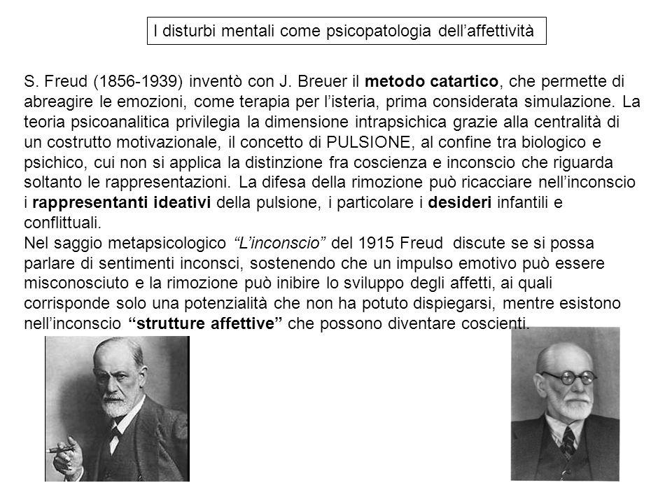 S. Freud (1856-1939) inventò con J. Breuer il metodo catartico, che permette di abreagire le emozioni, come terapia per l'isteria, prima considerata s