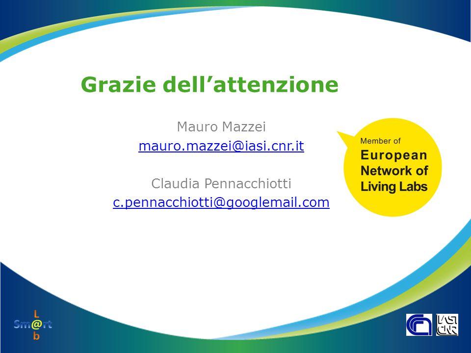 Grazie dell'attenzione Mauro Mazzei mauro.mazzei@iasi.cnr.it Claudia Pennacchiotti c.pennacchiotti@googlemail.com