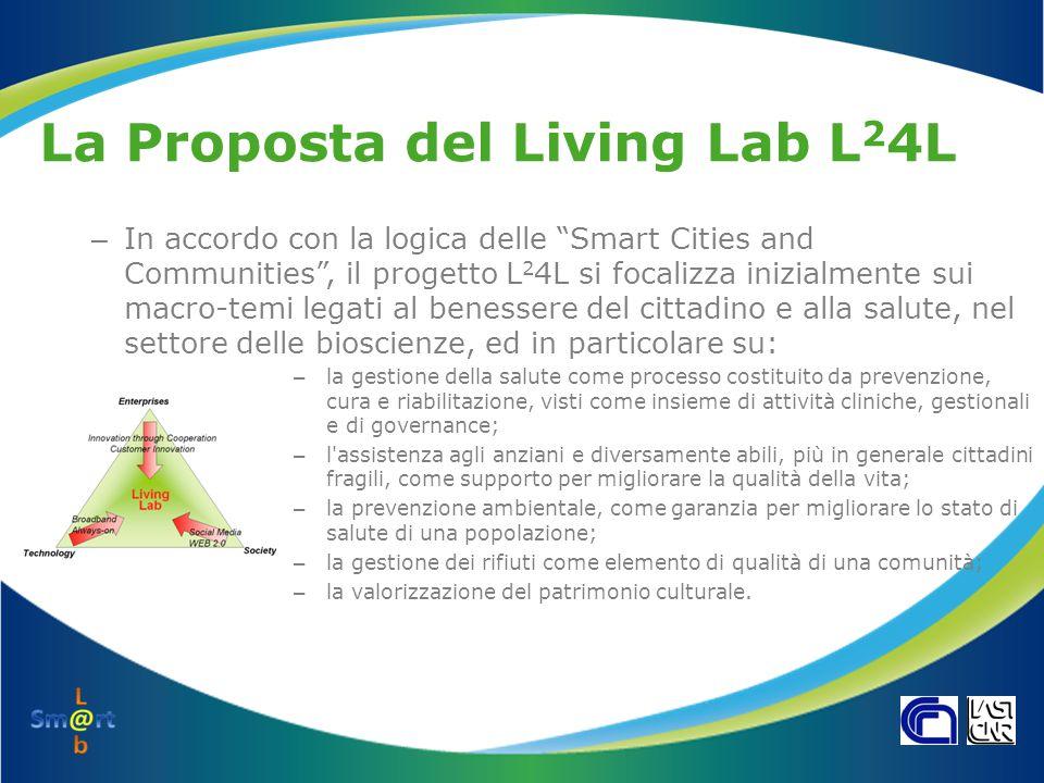 """La Proposta del Living Lab L 2 4L – In accordo con la logica delle """"Smart Cities and Communities"""", il progetto L 2 4L si focalizza inizialmente sui ma"""
