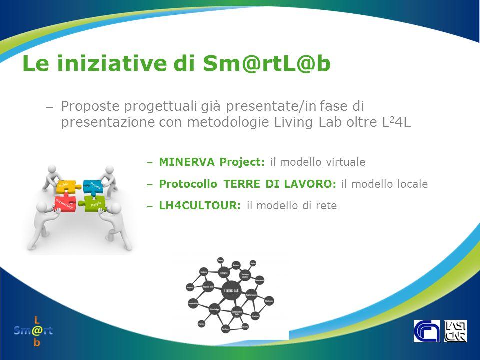 Le iniziative di Sm@rtL@b – Proposte progettuali già presentate/in fase di presentazione con metodologie Living Lab oltre L 2 4L – MINERVA Project: il