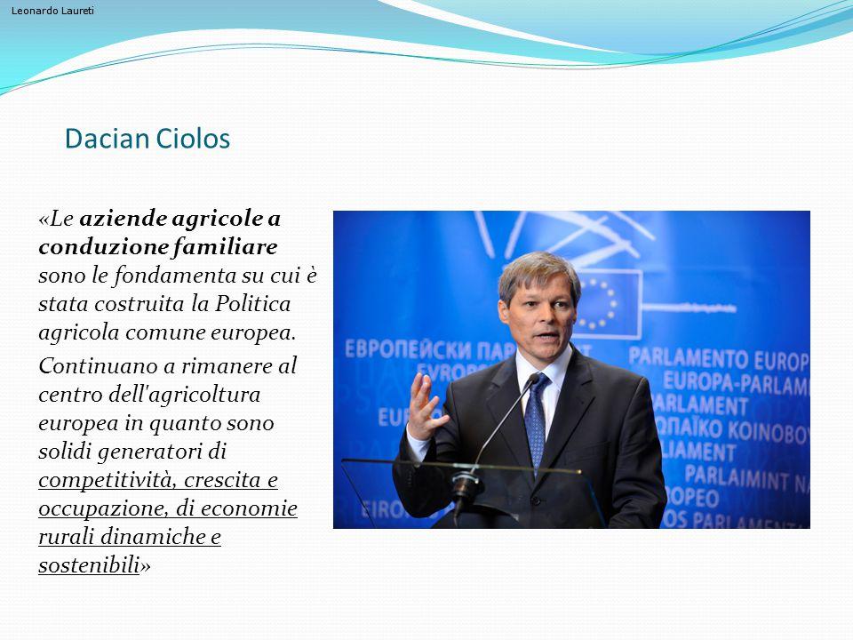 Leonardo Laureti I giovani agricoltori Fonte EUROSTAT