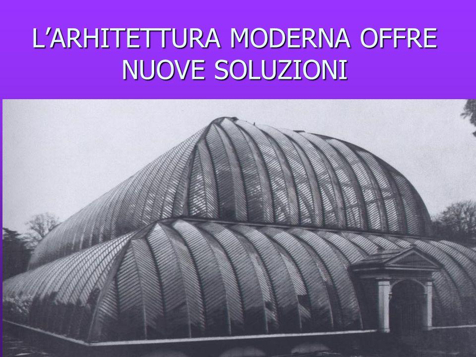 L'ARHITETTURA MODERNA OFFRE NUOVE SOLUZIONI