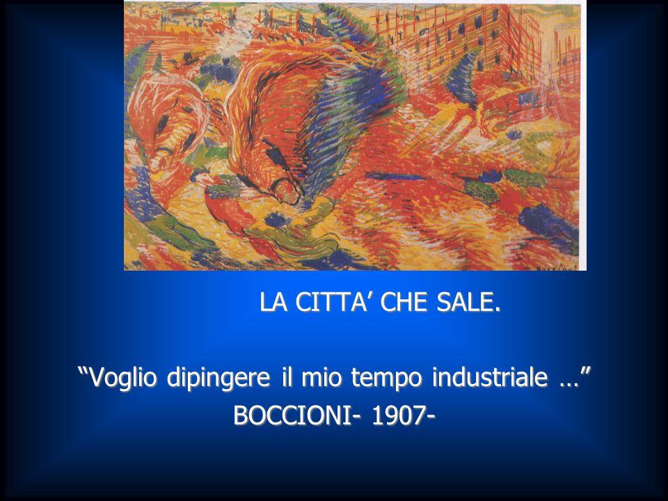 """LA CITTA' CHE SALE. LA CITTA' CHE SALE. """"Voglio dipingere il mio tempo industriale …"""" BOCCIONI- 1907-"""