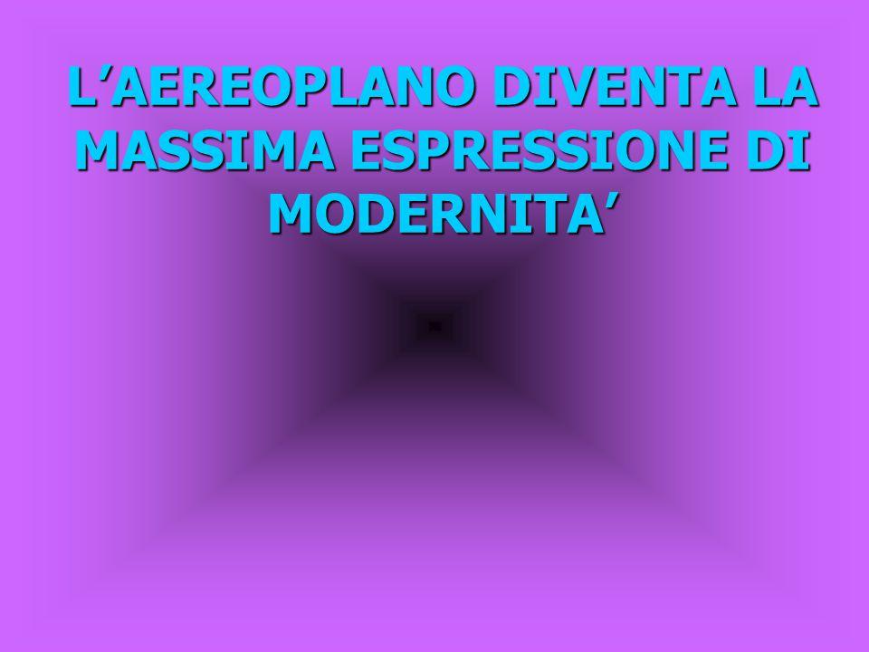 L'AEREOPLANO DIVENTA LA MASSIMA ESPRESSIONE DI MODERNITA'