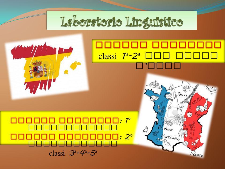 Lingua Spagnola : 1 ° quadrimestre L LL Lingua Francese : 2 ° quadrimestre c lassi 3 ª -4 ª -5 ª Lingua Spagnola classi 1 ª -2 ª per tutto l ' anno
