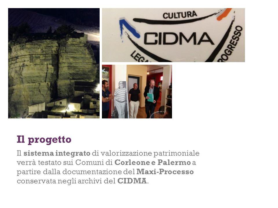 Il progetto Il sistema integrato di valorizzazione patrimoniale verrà testato sui Comuni di Corleone e Palermo a partire dalla documentazione del Maxi-Processo conservata negli archivi del CIDMA.