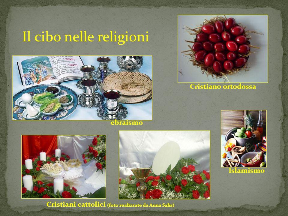 Il cibo nelle religioni Islamismo Cristiano ortodossa ebraismo Cristiani cattolici (foto realizzate da Anna Salis)
