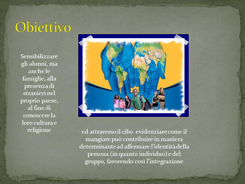 Sensibilizzare gli alunni, ma anche le famiglie, alla presenza di stranieri nel proprio paese, al fine di conoscere la loro cultura e religione ed att