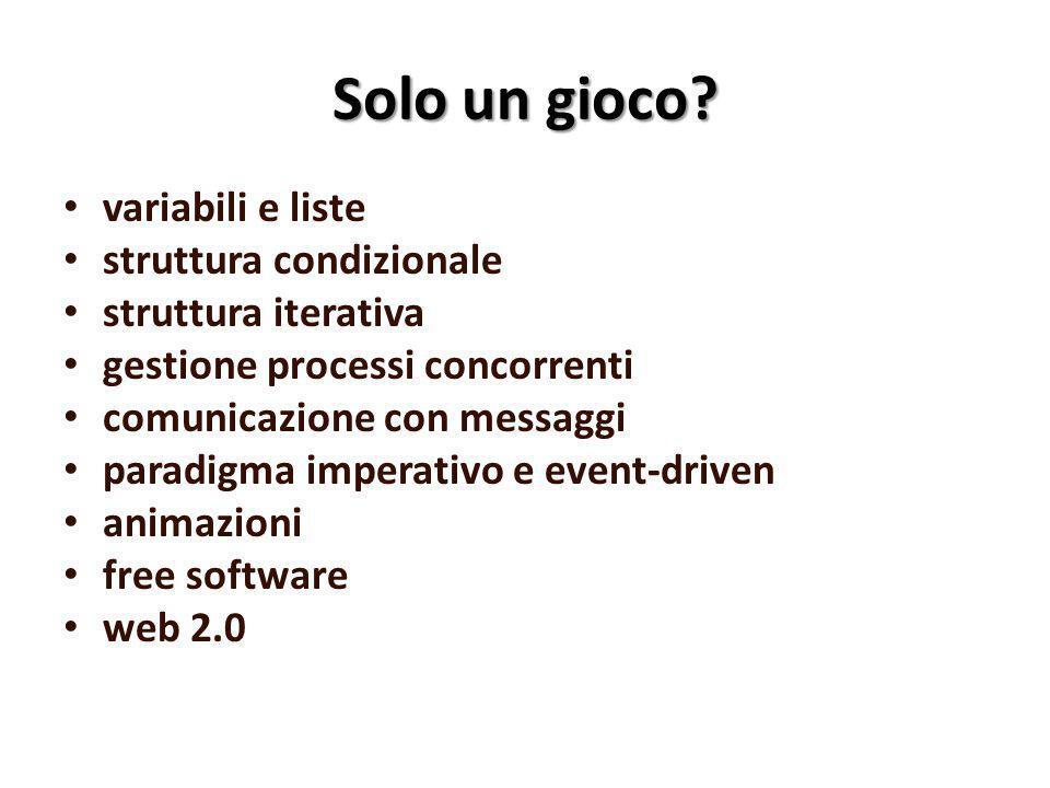 Da Scratch 1.4 a Scratch 2.0 Apparsa nel maggio 2013 Web based Versione download (beta) da fine agosto 2013 Maggiori potenzialità Nuova interfaccia più ricca